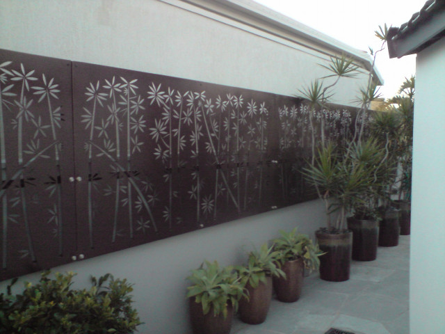 2mm Mild Steel Bamboo Pattern Screen