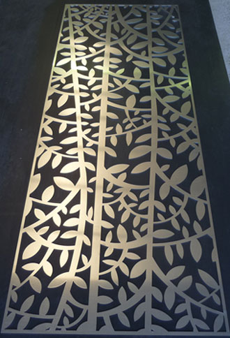 3mm aluminium - Laser cut architectural screen